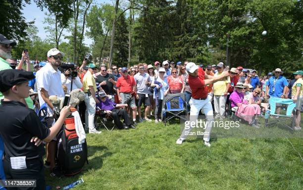 Martin Kaymer of Germany plays a chip shot on the sixth hole during the third round of the Memorial Tournament presented by Nationwide at Muirfield...