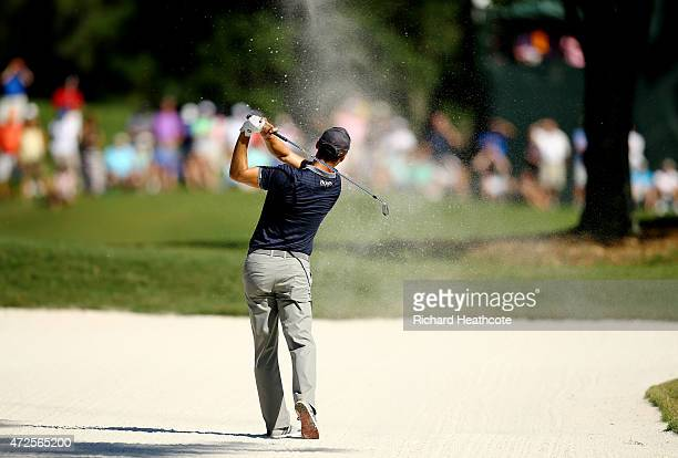 Martin Kaymer of Germany plays a shot from a bunker on the 15th hole during round two of THE PLAYERS Championship at the TPC Sawgrass Stadium course...