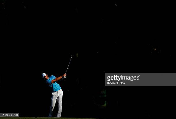 Martin Kaymer of Germany plays a shot on the 13th hole during the first round of the 2016 Masters Tournament at Augusta National Golf Club on April 7...