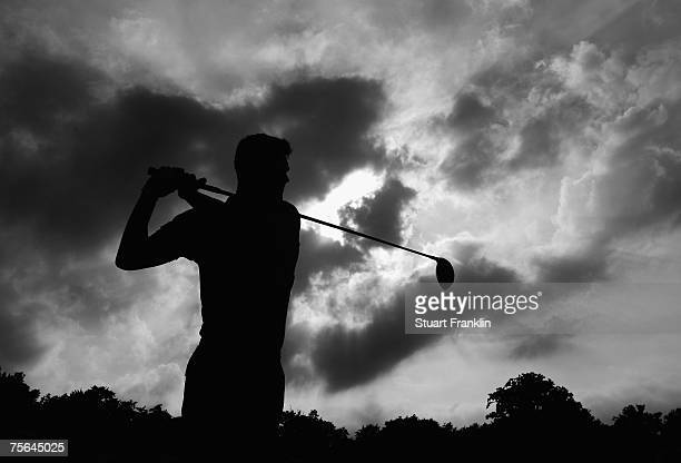 Martin Kaymer of Germany plays a tee shot during the Pro Am of The Deutsche Bank Players Championship of Europe at Gut Kaden Golf and Land Club on...