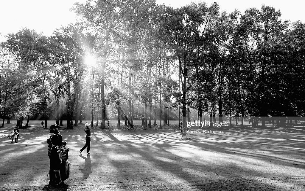 Martin Kaymer of Germany plays his second shot on the eighth hole during the second round of the Italian Open at Golf Club Milano - Parco Reale di Monza on September 17, 2016 in Monza, Italy.