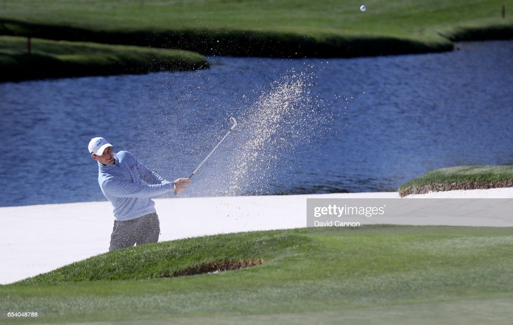 Martin Kaymer of Germany plays his second shot on the par 3, 17th hole during the first round of the 2017 Arnold Palmer Invitational presented by MasterCard on March 16, 2017 in Orlando, Florida.