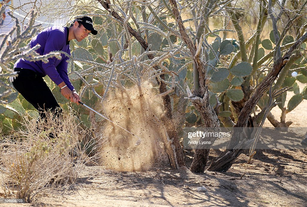 Martin Kaymer of Germany plays his second shot out of the rough on the 15th hole during the second round of the Accenture Match Play Championship at the Ritz-Carlton Golf Club on February 24, 2011 in Marana, Arizona.