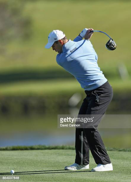 Martin Kaymer of Germany plays his tee shot on the par 5 16th hole during the first round of the 2017 Arnold Palmer Invitational presented by...