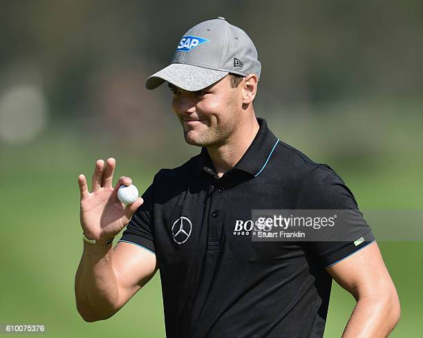 Martin Kaymer of Germany reacts during the second round on day three of the Porsche European Open at Golf Resort Bad Griesbach on September 24 2016...