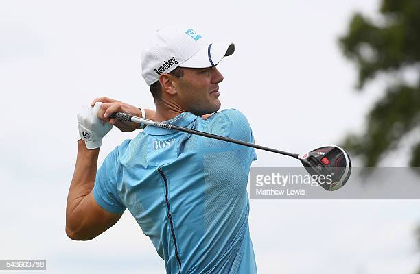 Martin Kaymer of Germany tees off during a proam round ahead of the 100th Open de France at Le Golf National on June 29 2016 in Paris France