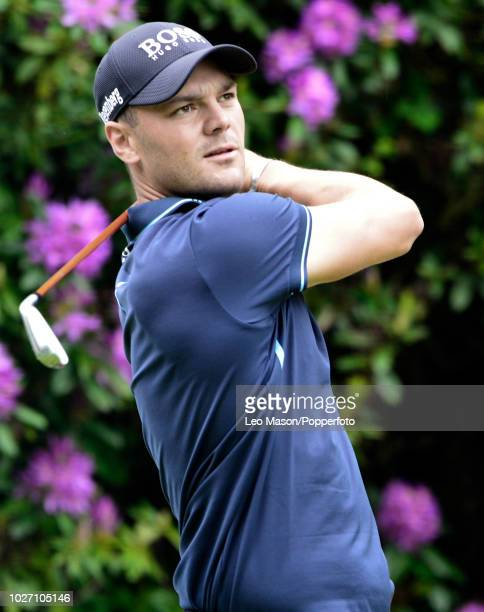 Martin Kaymer of Germany tees off during the 1st round of The BMW PGA Golf Championships at Wentworth on May 24 2018 in Virginia Water England