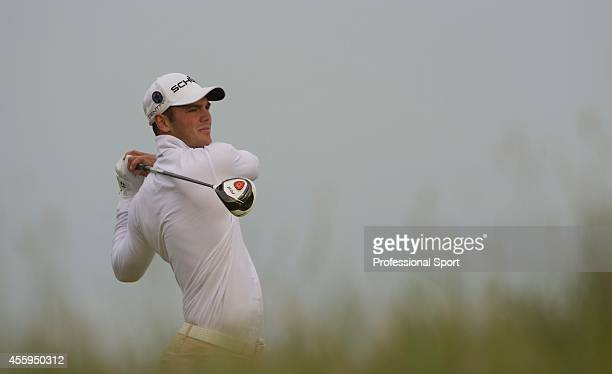 Martin Kaymer of Germany tees off during the first round of The 140th Open Championship at Royal St George's on July 14 2011 in Sandwich England