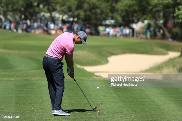 Martin Kaymer of Germany tees off on the 7th hole of his match during round two of the World Golf ChampionshipsDell Technologies Match Play at the...