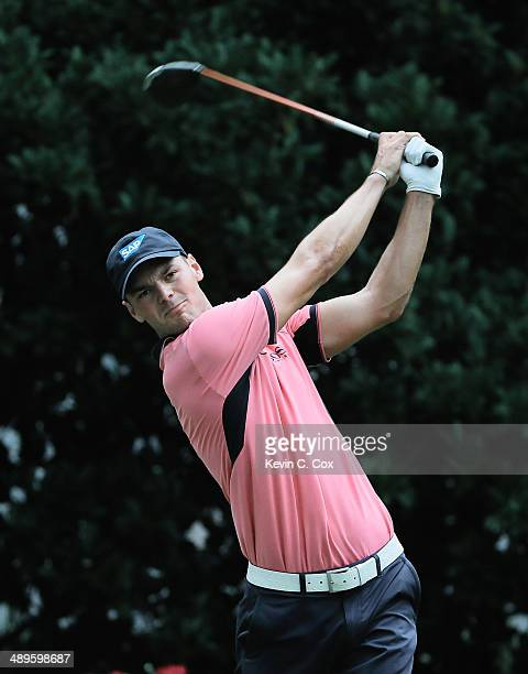 Martin Kaymer of Germany watches his tee shot on the 11th hole during the final round of THE PLAYERS Championship on The Stadium Course at TPC...