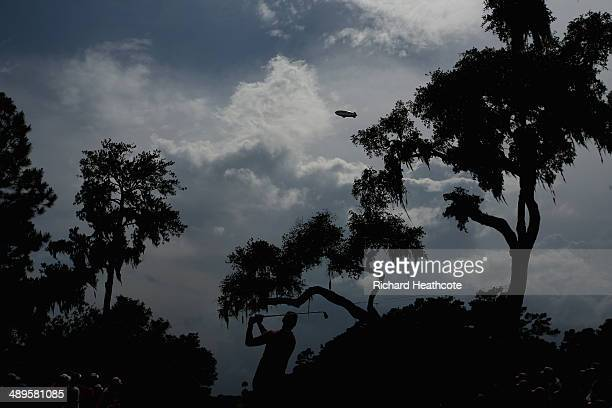 Martin Kaymer of Germany watches his tee shot on the sixth hole during the final round of THE PLAYERS Championship on The Stadium Course at TPC...
