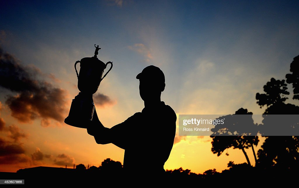 Martin Kaymer of Germany with the winners trophy after the final found of the US Open at the Pinehurst resort on the Pinehurst number 2 course on June 15, 2014 in Pinehurst, North Carolina.