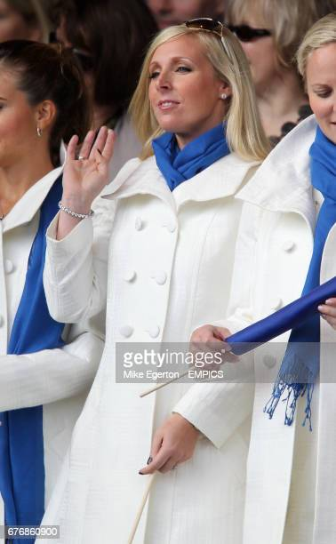 Martin Kaymer's partner Alison Micheletti at the opening ceremony