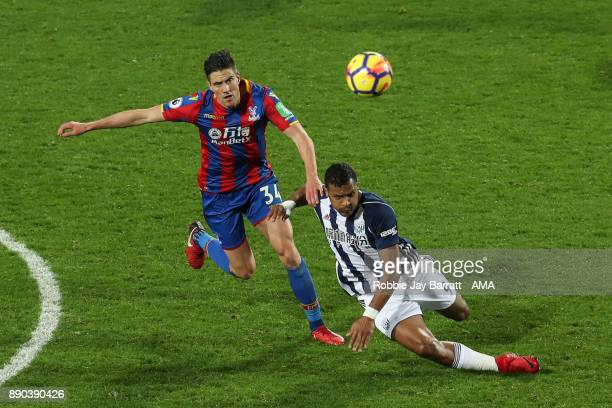 Martin Kelly of Crystal Palace and Jose Solomon Rondon of West Bromwich Albion during the Premier League match between West Bromwich Albion and...