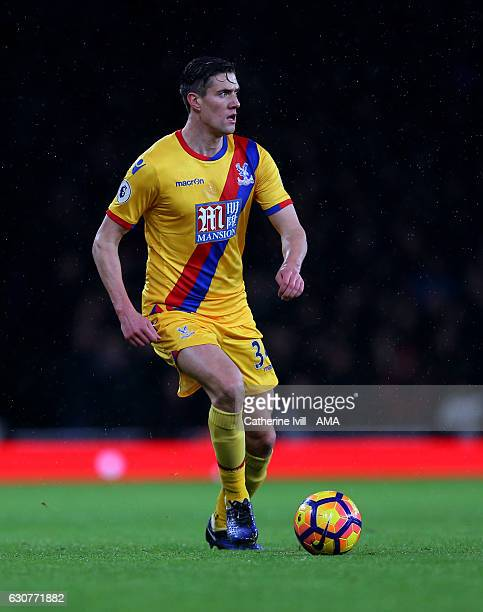 Martin Kelly of Crystal Palace during the Premier League match between Arsenal and Crystal Palace at Emirates Stadium on January 1 2017 in London...