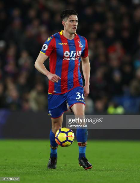 Martin Kelly of Crystal Palace during the Premier League match between Crystal Palace and Manchester United at Selhurst Park on March 5 2018 in...