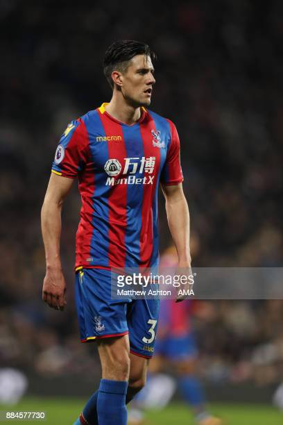 Martin Kelly of Crystal Palace during the Premier League match between West Bromwich Albion and Crystal Palace at The Hawthorns on December 2 2017 in...