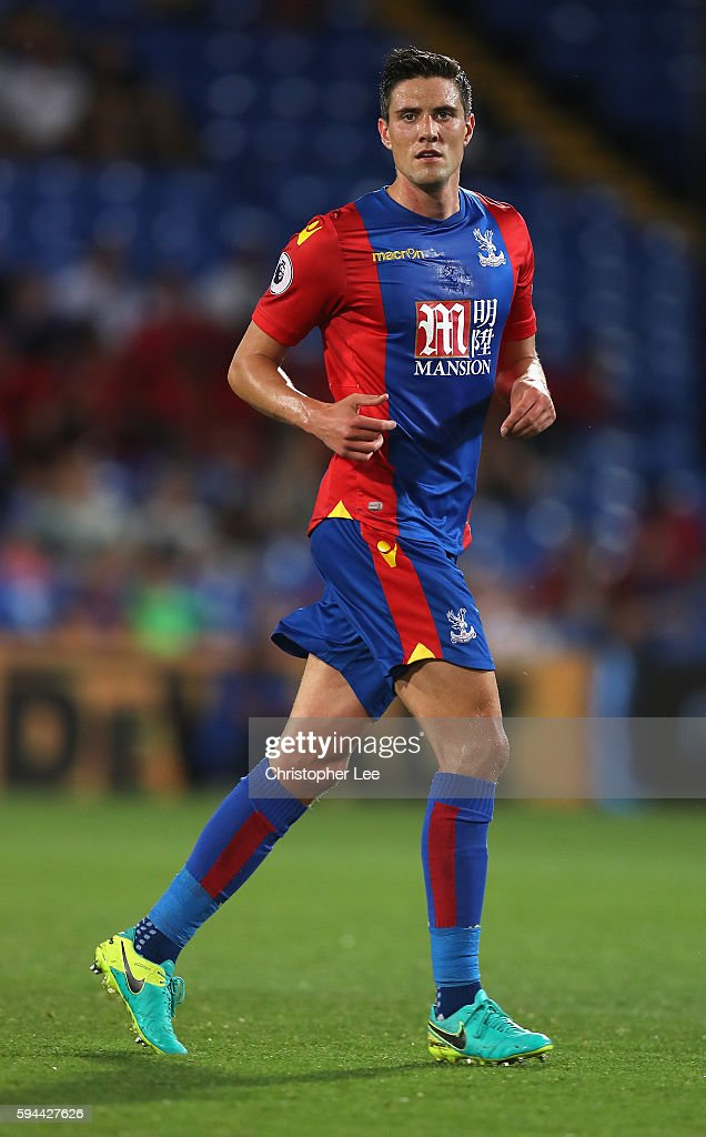 Martin Kelly of Crystal Palace in action during the EFL Cup Second Round match between Crystal Palace and Blackpool at Selhurst Park on August 23, 2016 in London, England.
