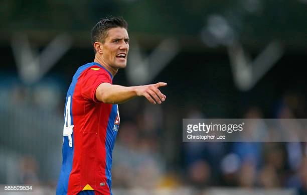 Martin Kelly of Crystal Palace in action during the Pre Season Friendly match between Bromley Town FC and Crystal Palace at Hayes Lane on August 2...