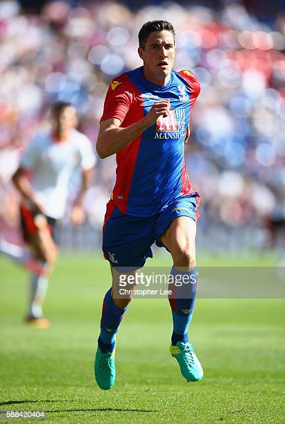 Martin Kelly of Crystal Palace in action during the Pre Season Friendly match between Crystal Palace and Valencia at Selhurst Park on August 6 2016...