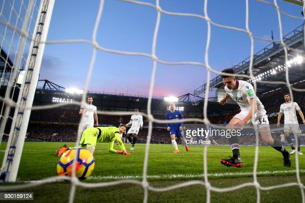 Martin Kelly of Crystal Palace scores a own goal for Chelsea second goal of the game during the Premier League match between Chelsea and Crystal...