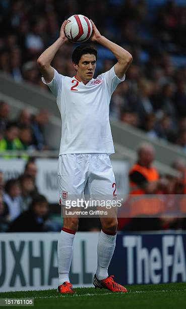Martin Kelly of England during the UEFA Under21 EURO 2013 Group 8 Qualifier between England and Norway at Proact Stadium on September 10 2012 in...
