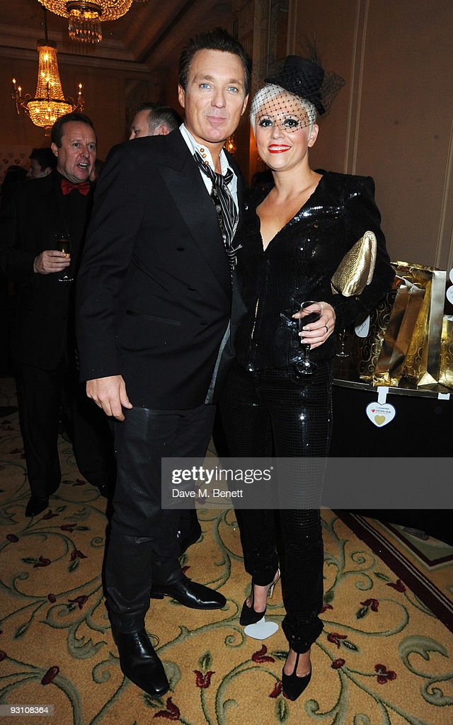 Martin Kemp and Caroline Monk attend the Variety Club Showbiz Awards, at the Grosvenor House, on November 15, 2009 in London, England.