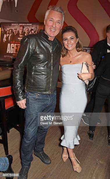 Martin Kemp and Dani Dyer attend a private screening of Age Of Kill at The Ham Yard Hotel on April 1 2015 in London England