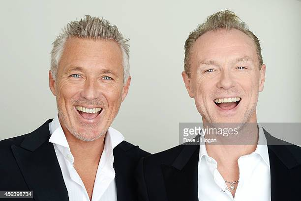 Martin Kemp and Gary Kemp backstage before the World Premiere of Soul Boys Of The Western World at Royal Albert Hall on September 30 2014 in London...