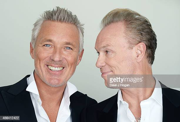 Martin Kemp and Gary Kemp backstage before the World Premiere of 'Soul Boys Of The Western World' at Royal Albert Hall on September 30 2014 in London...