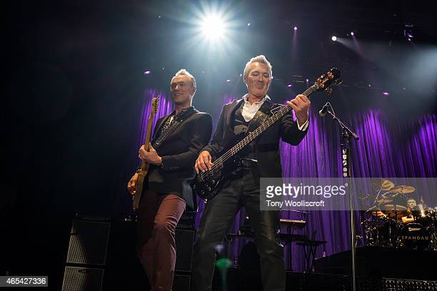 Martin Kemp and Gary Kemp of Spandau Ballet performs at Sheffield Arena on March 6 2015 in Sheffield England
