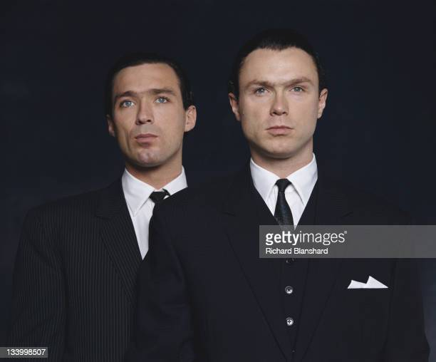 Martin Kemp and his brother Gary as British gangsters Reggie and Ronnie Kray respectively in the film 'The Krays' 1990 The Kemps are former members...