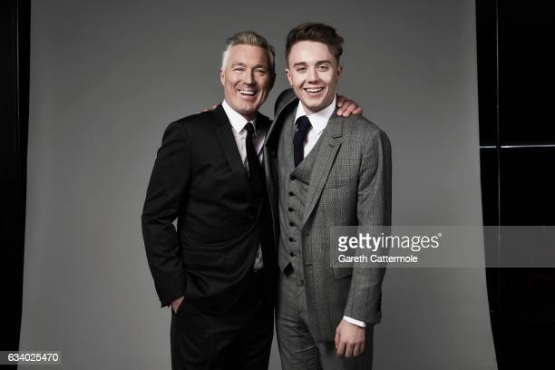 Martin Kemp and his son Roman Kemp attend the National Television Awards Portrait Studio at The O2 Arena on January 25 2017 in London England