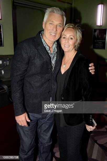 Martin Kemp and Shirlie Holliman attend the Spandau Ballet after party at Eventim Apollo on October 29, 2018 in London, England.