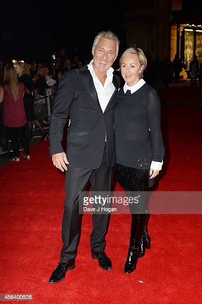 Martin Kemp and Shirley Holliman attend the World Premiere of Soul Boys Of The Western World at Royal Albert Hall on September 30 2014 in London...