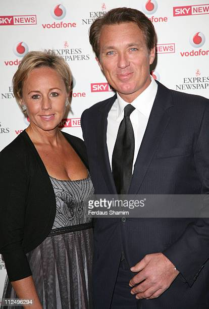 Martin Kemp and wife Shirley during The Vodafone Life Savers Awards Arrivals at Cafe Royal in London Great Britain