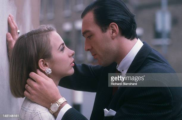 Martin Kemp as Reggie Kray and Kate Hardie as his wife Frances Shea in a scene from 'The Krays' directed by Peter Medak 1990