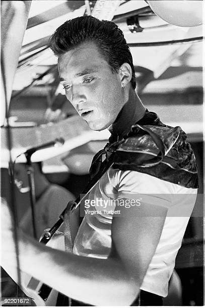 Martin Kemp from Spandau Ballet performs live at their HMS Belfast gig on July 26 1980