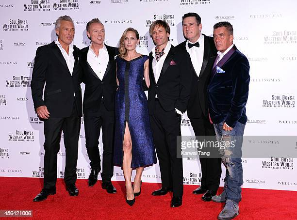 Martin Kemp Gary Kemp Director George Hencken Steve Norman Tony Hadley and John Keeble attend the World Premiere of 'Soul Boys Of The Western World'...