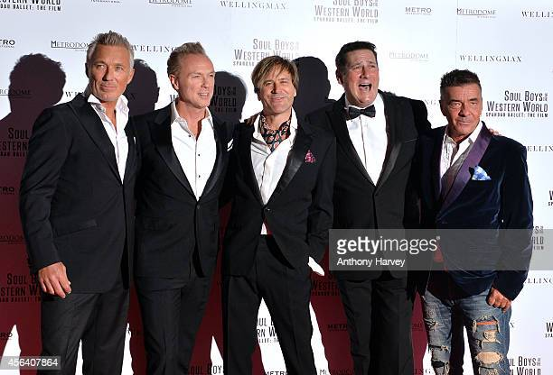 Martin Kemp Gary Kemp Steve Norman Tony Hadley and John Keeble attend the World Premiere of Soul Boys Of The Western World at Royal Albert Hall on...