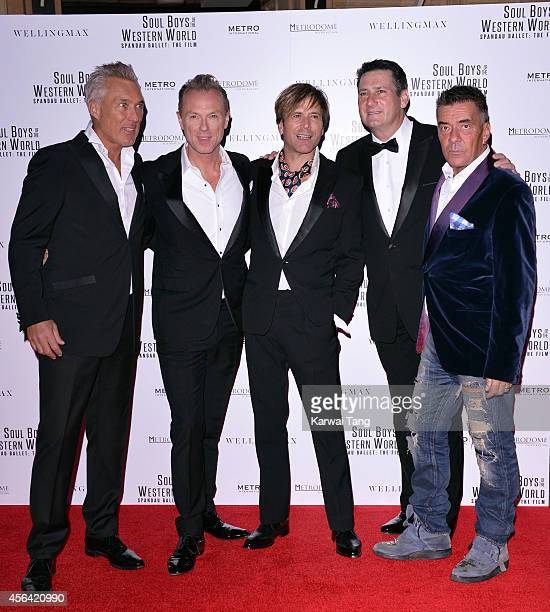 Martin Kemp Gary Kemp Steve Norman Tony Hadley and John Keeble attend the World Premiere of 'Soul Boys Of The Western World' at Royal Albert Hall on...