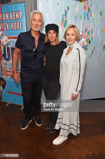 Martin Kemp Harley Moon Kemp and Shirlie Holliman attend a party to celebrate the upcoming release of Vick Hope and Roman Kemp's new children's book...