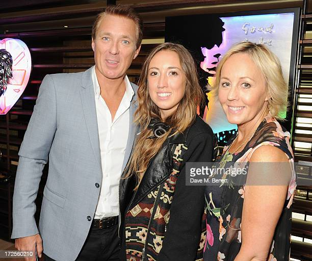 Martin Kemp Harley Moon Kemp and Shirley Holliman attend Christian Furr and Chris Bracey 'Staying Alive' Private View at 45 Park Lane on July 3 2013...