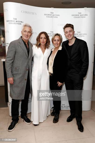 Martin Kemp Harley Moon Kemp Shirlie Holliman and Roman Kemp attend the George Michael Collection VIP Reception at Christies on March 12 2019 in...