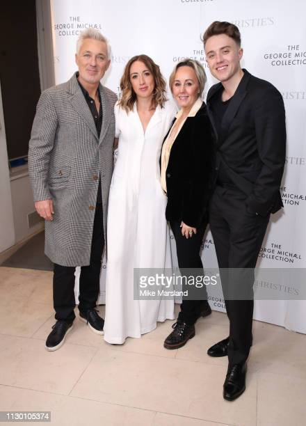 Martin Kemp Harleymoon Kemp Shirlie Kemp and Roman Kemp attend The George Michael Collection VIP Reception at Christies on March 12 2019 in London...