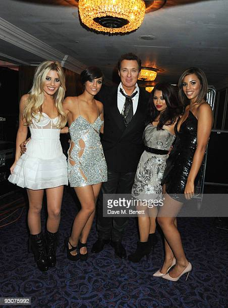 Martin Kemp Mollie King Frankie Sandford Vanessa White and Rochelle Wiseman of The Saturdays attend the Variety Club Showbiz Awards at the Grosvenor...
