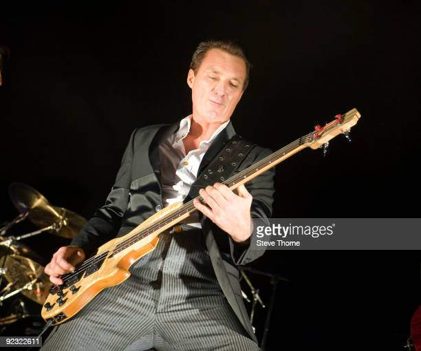 Martin Kemp of Spandau Ballet performs on stage at LG Arena on October 24, 2009 in Birmingham, England.