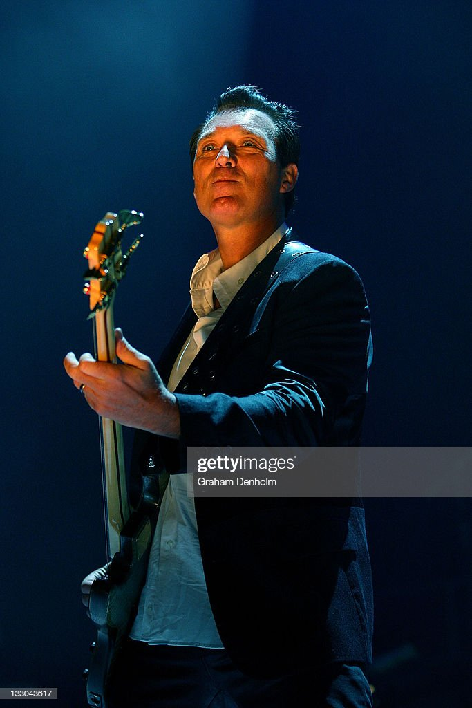 Martin Kemp of Spandau Ballet performs on stage during their concert at the Sydney Entertainment Centre on April 23, 2010 in Sydney, Australia.