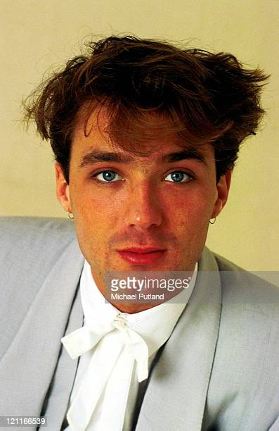 Martin Kemp of Spandau Ballet, studio, portrait, London, May 1983.