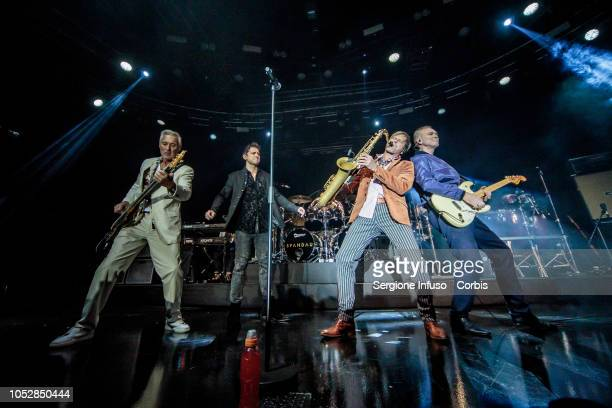 Martin Kemp Ross William Wild Steve Norman and Gary Kemp of Spandau Ballet perform on stage at Fabrique Club on October 23 2018 in Milan Italy